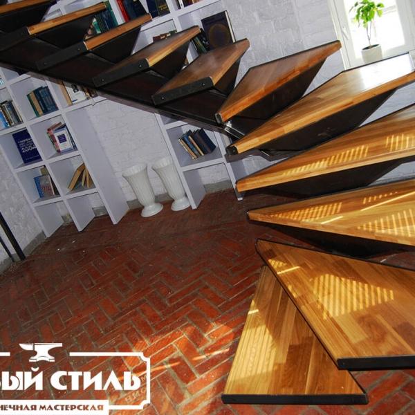 Лестница в стиле industrial