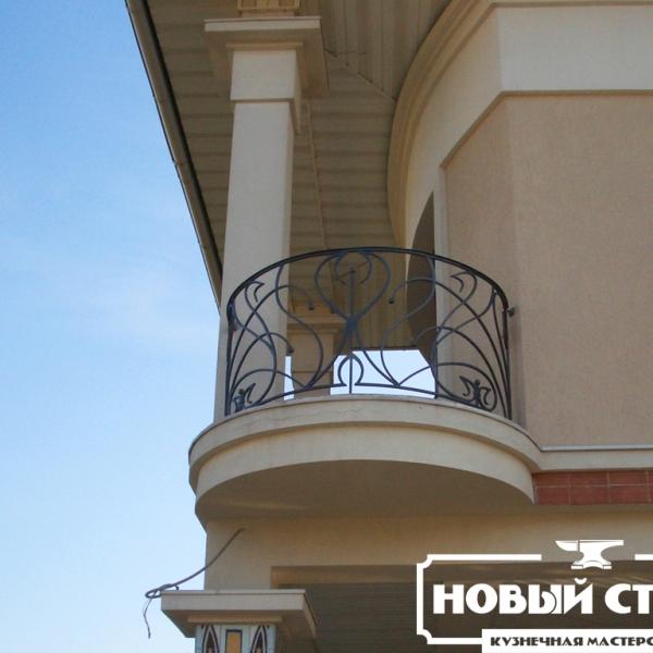 Радиусное ограждение балкона
