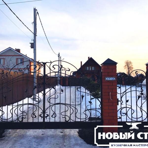 Кованые ворота в Ногинске